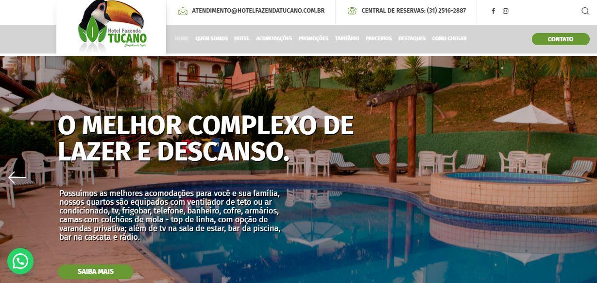 Site Hotel Fazenda Tucano