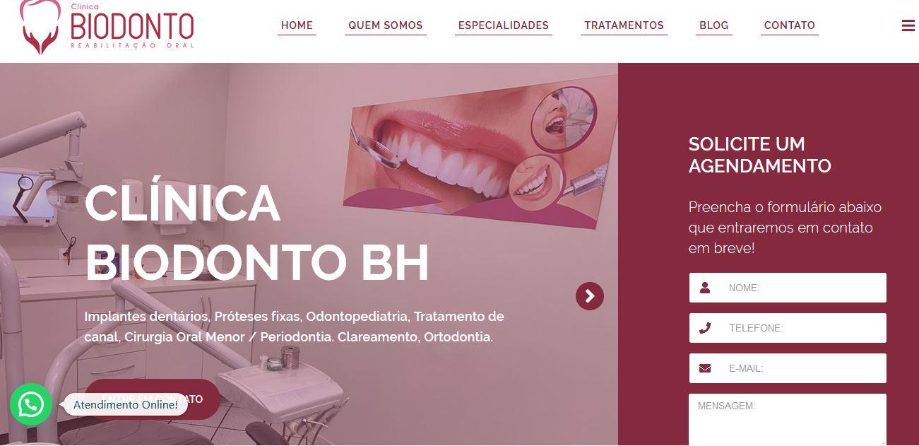 Criação de Sites para Dentistas – BiodontoBH