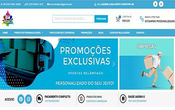 Criação de Loja Virtual para Brindes Personalizados - BH Personalize