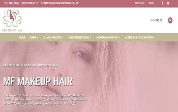 Criação de Loja Virtual para Produtos de Micropigmentação - MF Makeup Hair