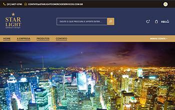 Criação de loja virtual para Elétricos e Eletrônicos - Starlight Comércio e Serviços