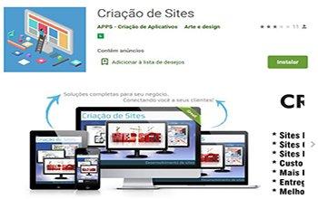 Criação de Sites para Aplicativos - APPS Criação de Aplicativos