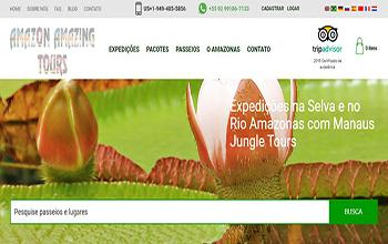 Criação de sites para Agência de Turismo - Manaus Jungle Tours