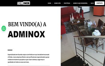 Criação de Sites para Serralherias - ADM Inox