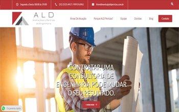 Criação de site de engenheiro em BH - ALD Avaliações e Perícias de Engenharia