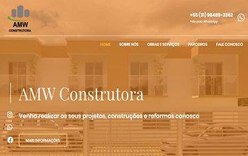 Criação de Sites para Construtoras - AMW Construtora