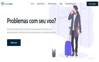 Criação do site Problemas com VOO - AtrasoVoo