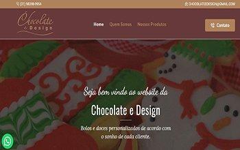 Criação de Sites para Bolos e Doces - Chocolate e Design