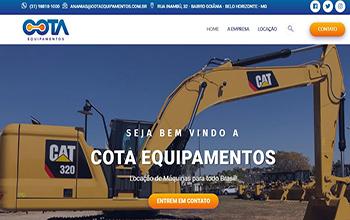 Criação de sites para empresa de locação de máquinas - Cota Equipamentos