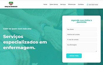 Criação de Sites para Serviços de enfermagem BH - Espaço de Enfermagem