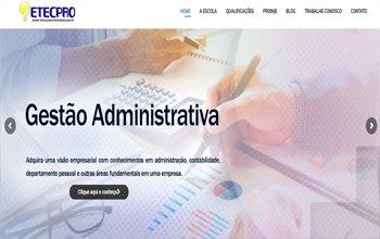 Criação de Site de Ensino Técnico Profissionalizante - ETECPRO