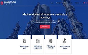 Criação de sites de manutenção industrial em BH - GD Manutenção