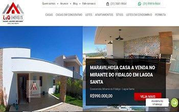 Criação de sites para imobiliárias - LQ Imóveis Lagoa Santa
