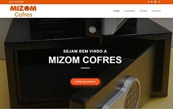 Criação de sites para empresa de cofres - Mizom Cofres