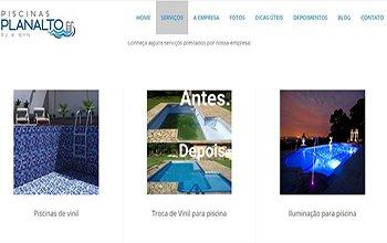 Criação de Sites para Lojas de Piscinas - Piscinas Planalto RJ