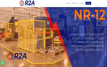 Criação de site para engenharia elétrica – R2A Sistemas Elétricos