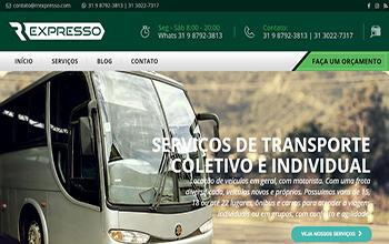 Criação de sites para Aluguel e Locação de Vans - RR Expresso