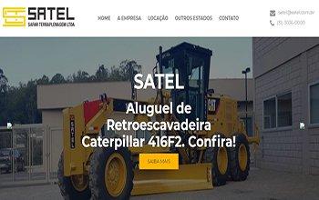 Criação de Sites de Aluguel de Máquinas e Equipamentos - SATEL Terraplanagem