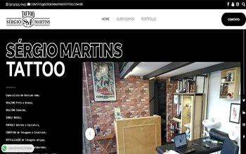 Criação de Sites para Estúdio de Tatuagem - Sérgio Martins Tatoo
