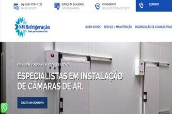 Criação de Sites para Câmaras Frias - SM Refrigeração