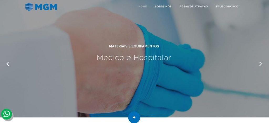 Criação de Sites de Gestão Médico e Hospitalar em BH - MGM Materiais