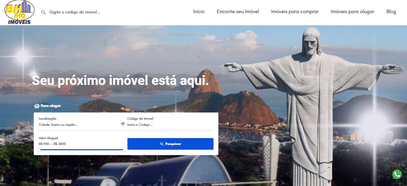 Criação de sites para imobiliárias em BH - BH Rio Imóveis
