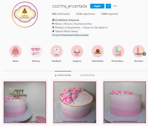 Rede Social da Cozinha Encantada em BH