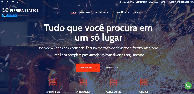 Criação do site Girebrás Comercial Ltda
