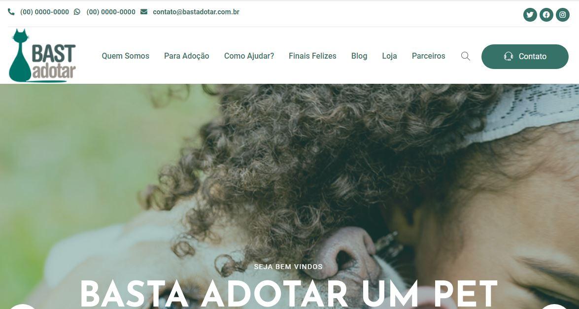 Criação do Site para Ong. Bastadotar