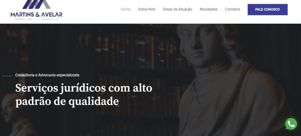 Criação do Site Martins e Avelar