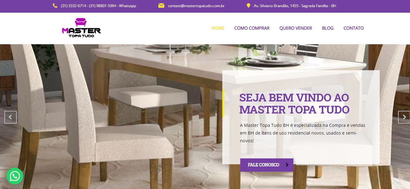 Criação do Site Master Topa Tudo