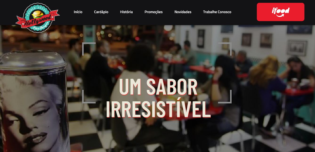 Criação do site da Hollywood Fine Burger