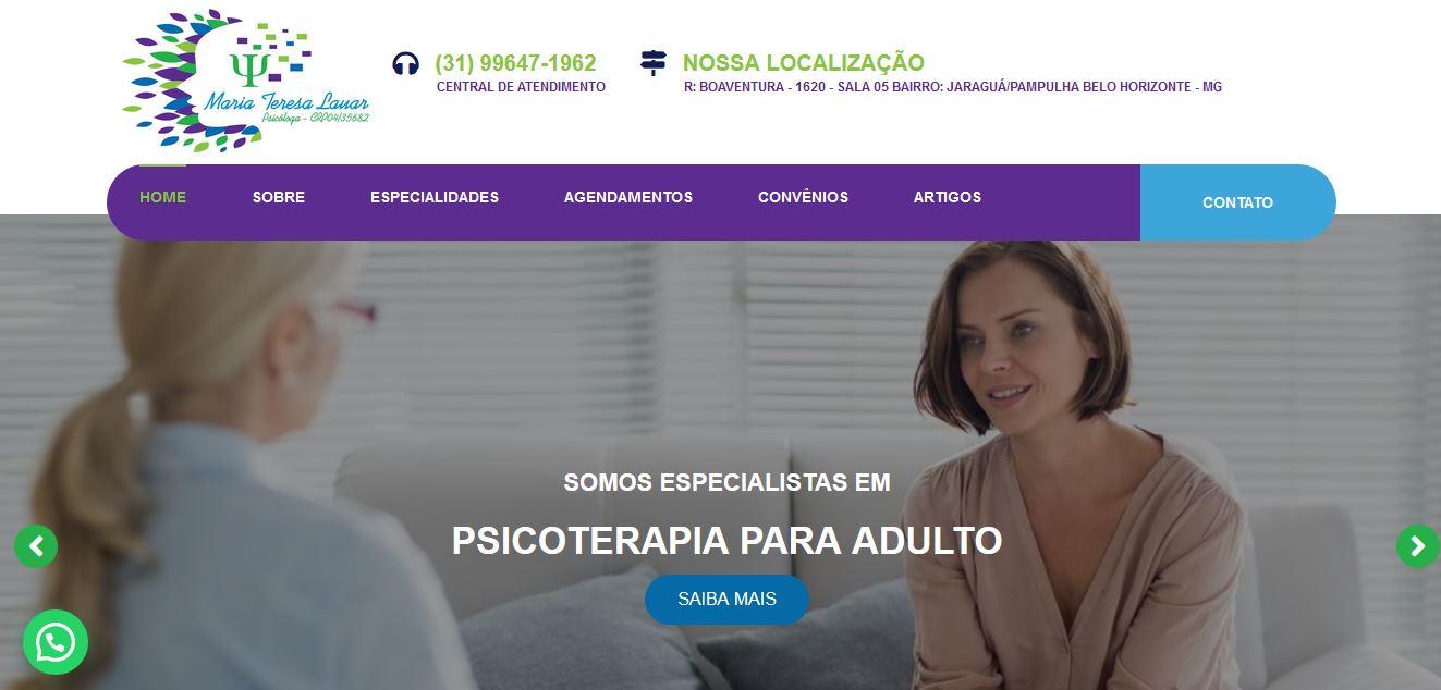 Criação de Sites para Psicóloga