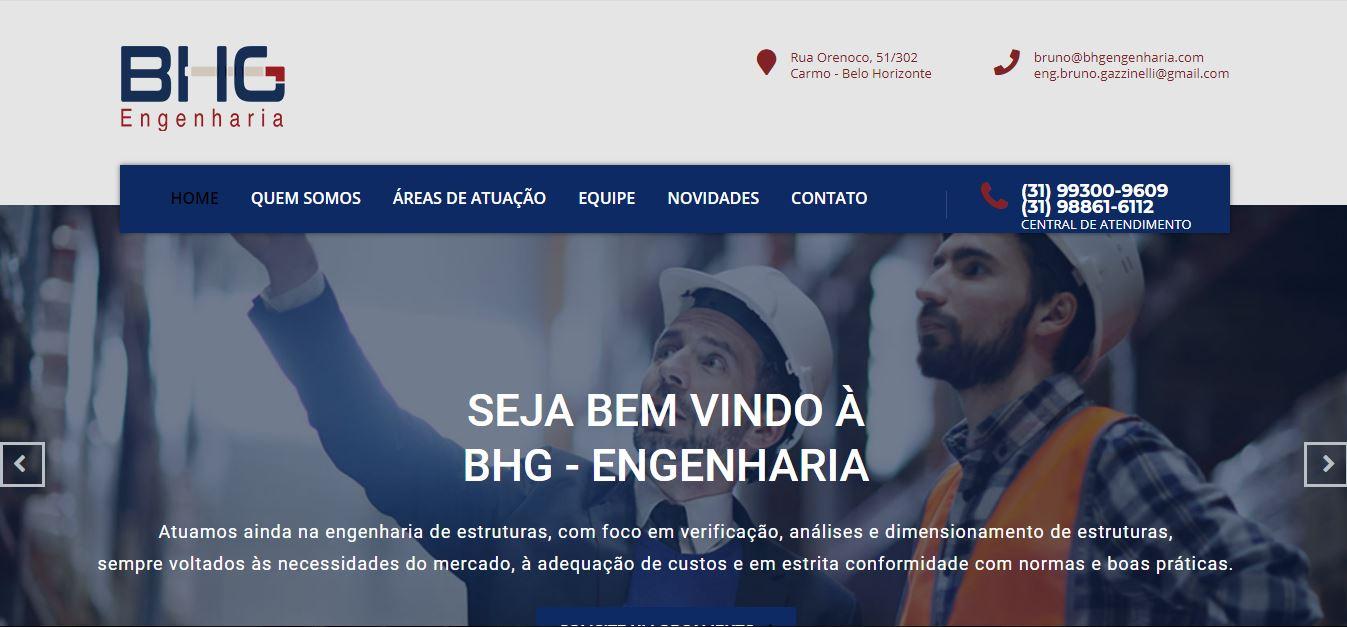 Criação do site BHG Engenharia