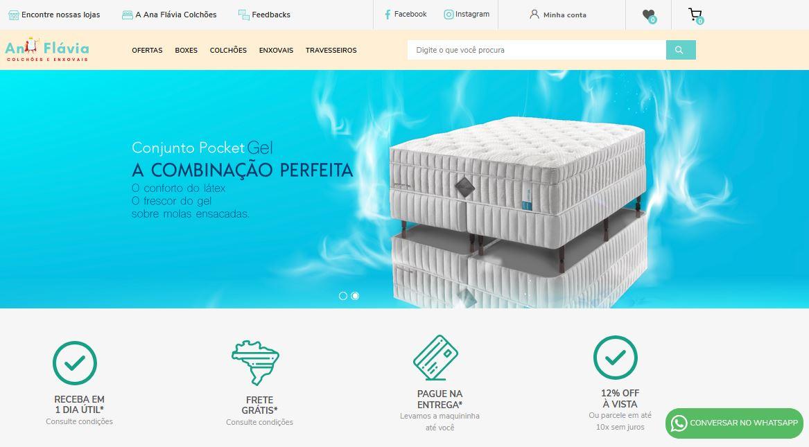 Criação do Site Ana Flávia Colchões