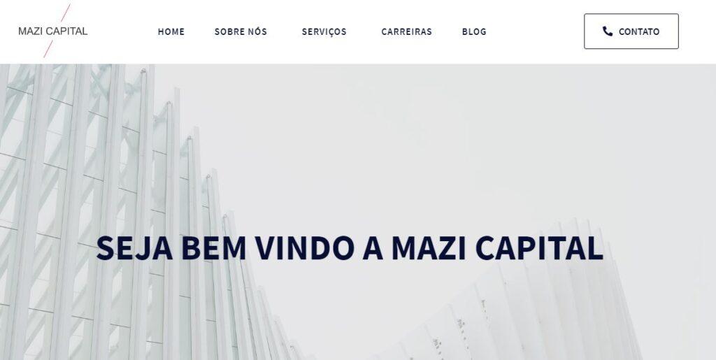 Criação do site Mazi Capital!
