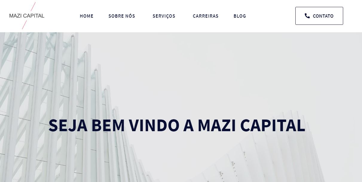 Criação do site Mazi Capital!