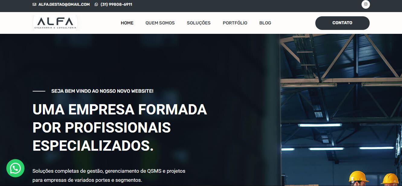Criação do site Alfa Engenharia