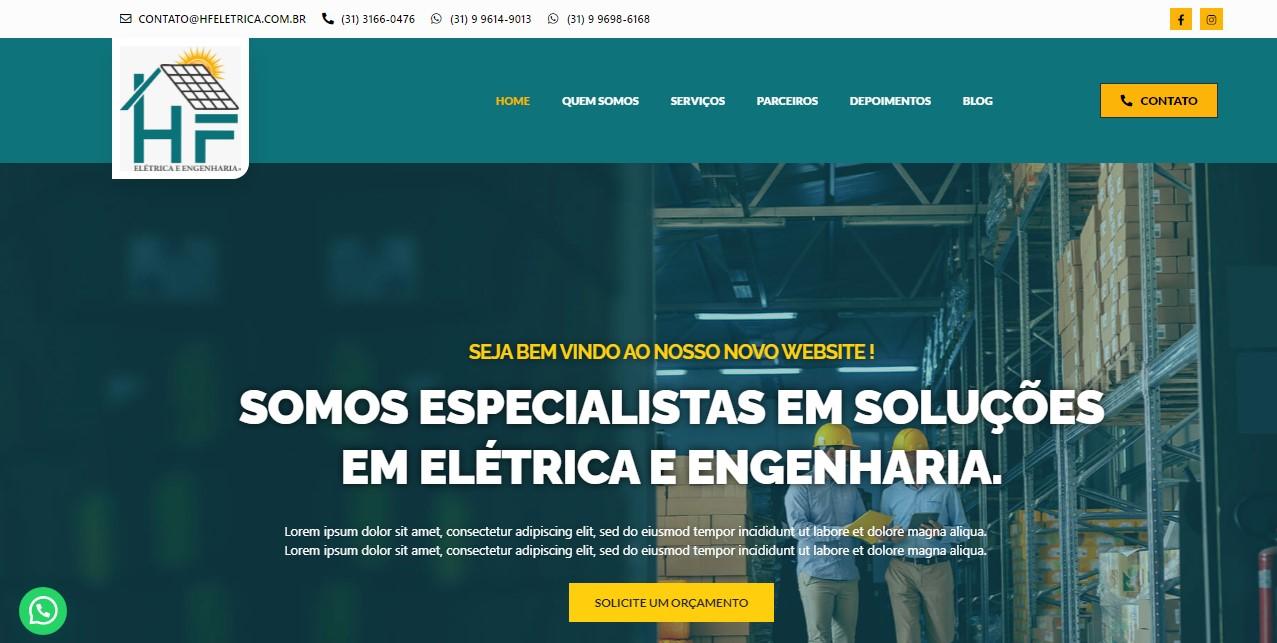 Criação do Site HF Elétrica e Engenharia