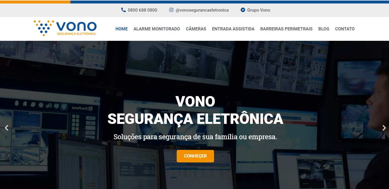 Criação do Site Vono Segurança Eletrônica