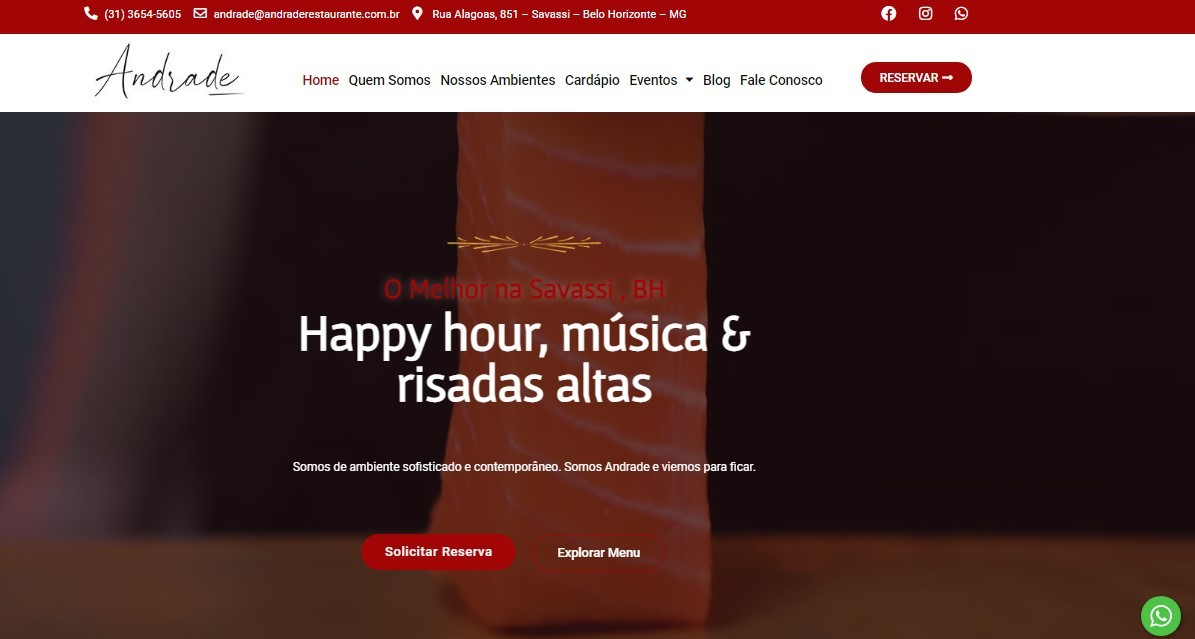 Desenvolvimento de Sites para restaurantes na Savassi