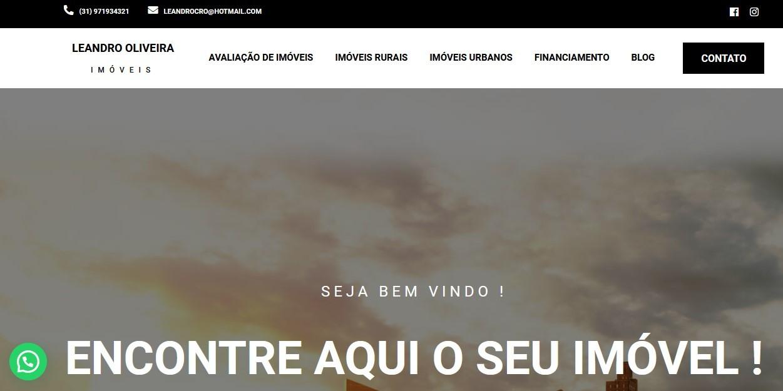 Criação de Sites Leandro Oliveira Corretor de imóveis