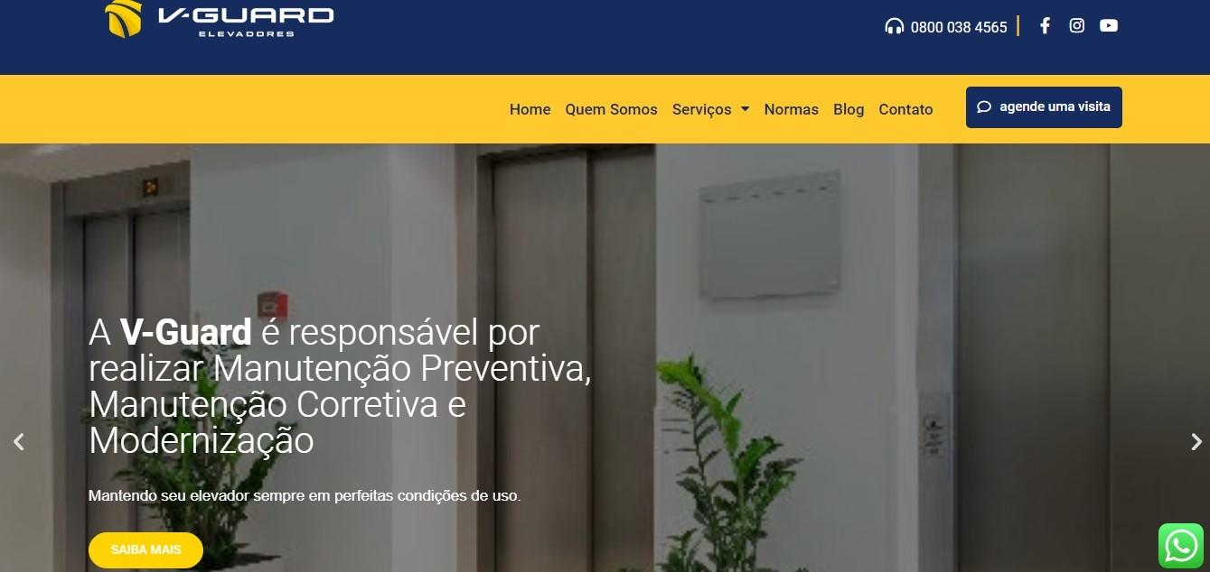 Criação do Site V-Guard Elevadores