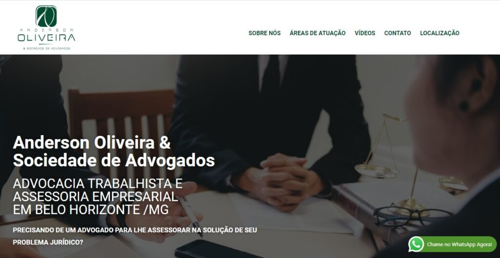 Criação do site Anderson Oliveira Advogados