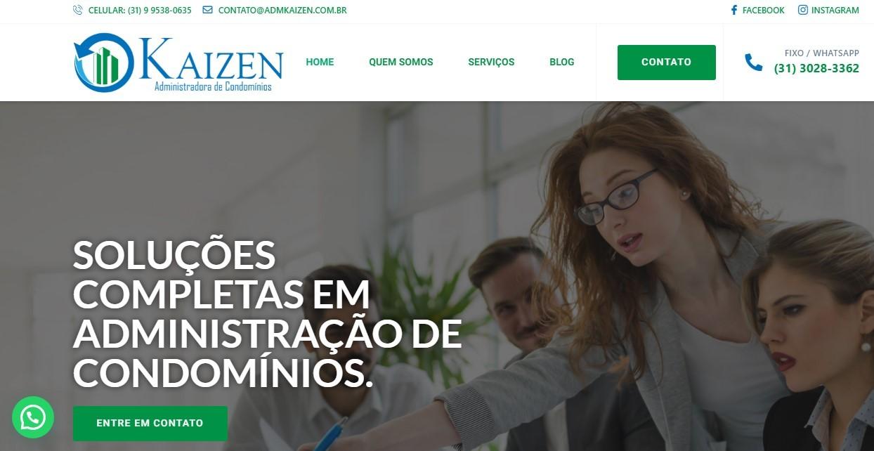 Criação do Site Kaizen Administradora de Condomínios