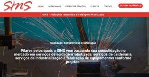Criação do Site Soldagem Robotizada. Agência de criação de sites para empresas de Soluções Industriais e Soldagem Robotizada. Conheça!
