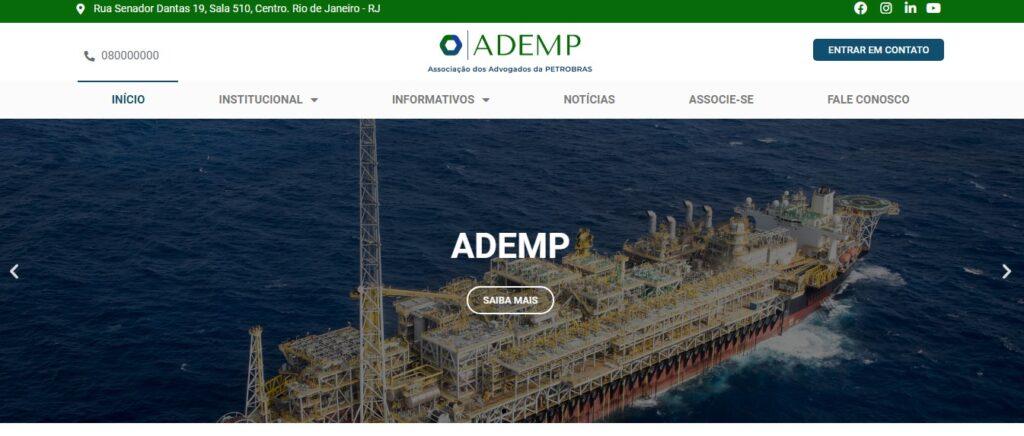 Criação do Site ADEMP - Associação dos Advogados da Petrobras