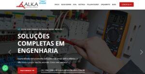 Criação do Site Alka Soluções Completas em Engenharia